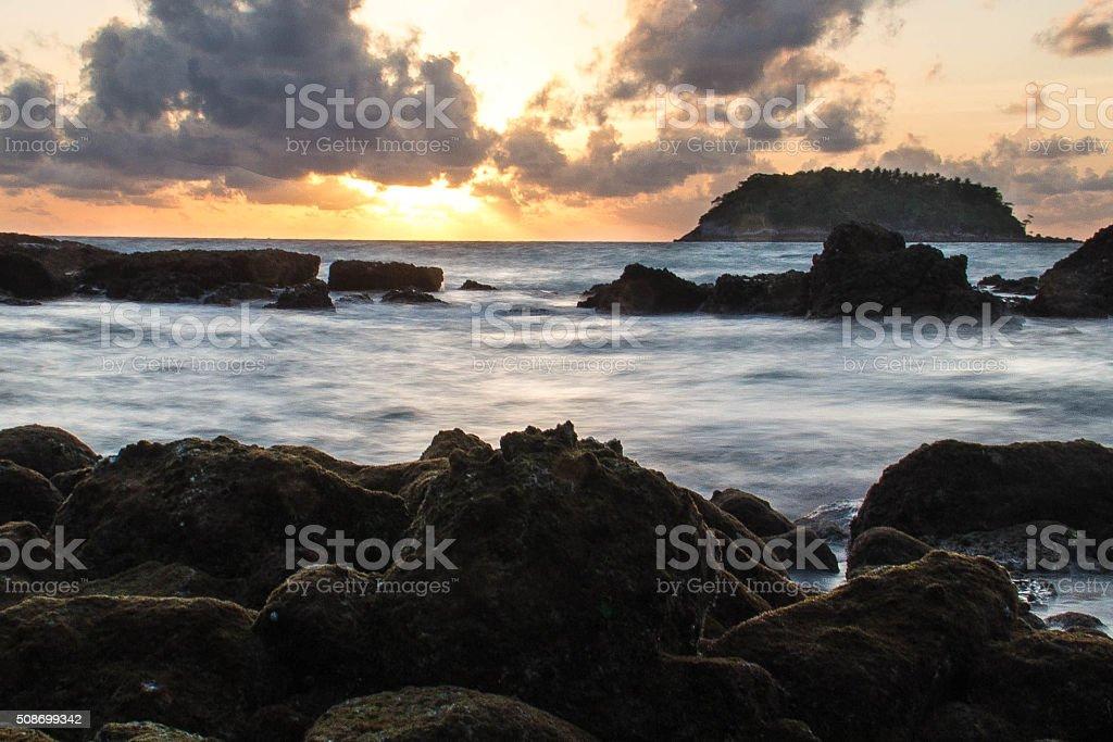 Sunset in Phuket stock photo