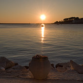 Sunset in Porec , Croatia