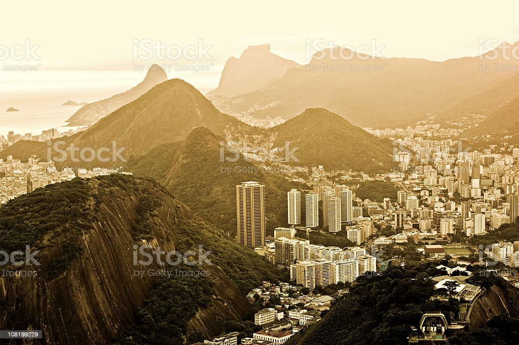 Sunset in Rio royalty-free stock photo
