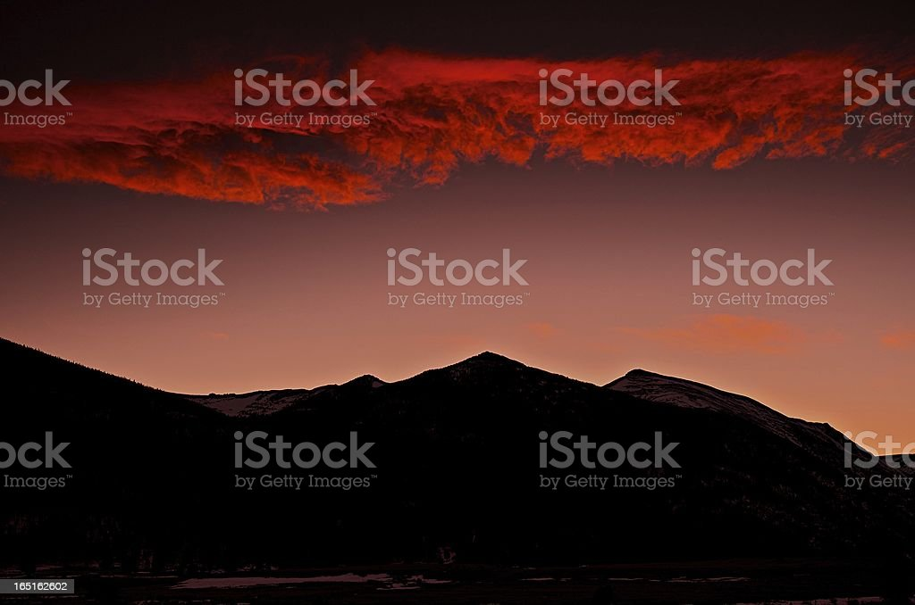 Sunset in Rocky Mountain National Park royalty-free stock photo