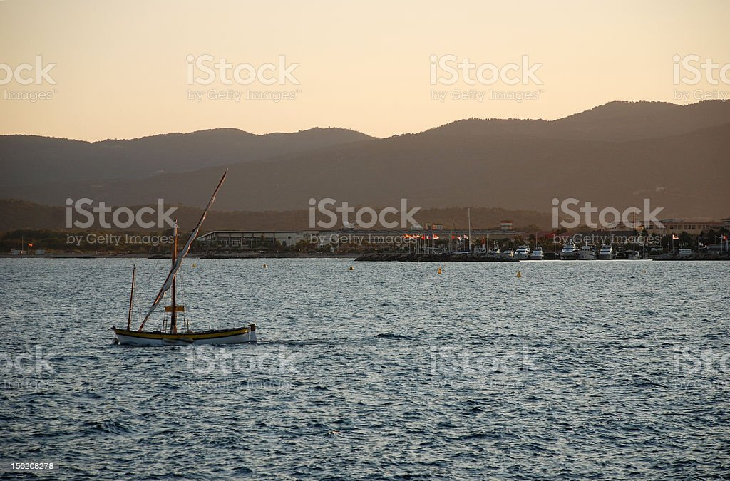 Sunset in Saint Raphael royalty-free stock photo