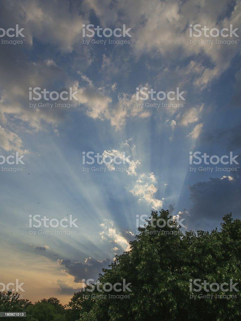 Sunset in Salzgitter royalty-free stock photo