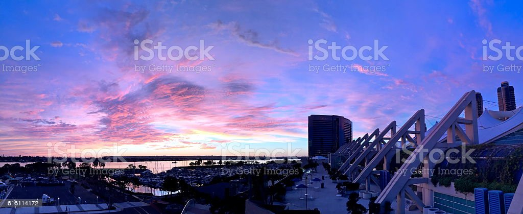 Sunset in San Diego stock photo