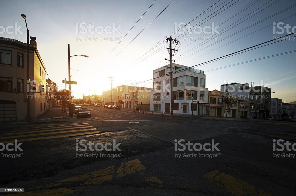 Sunset in San Francisco stock photo