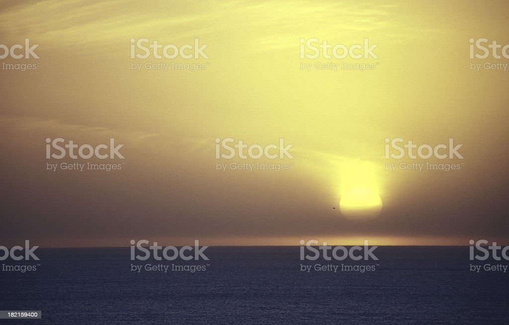 sunset in santa monica royalty-free stock photo