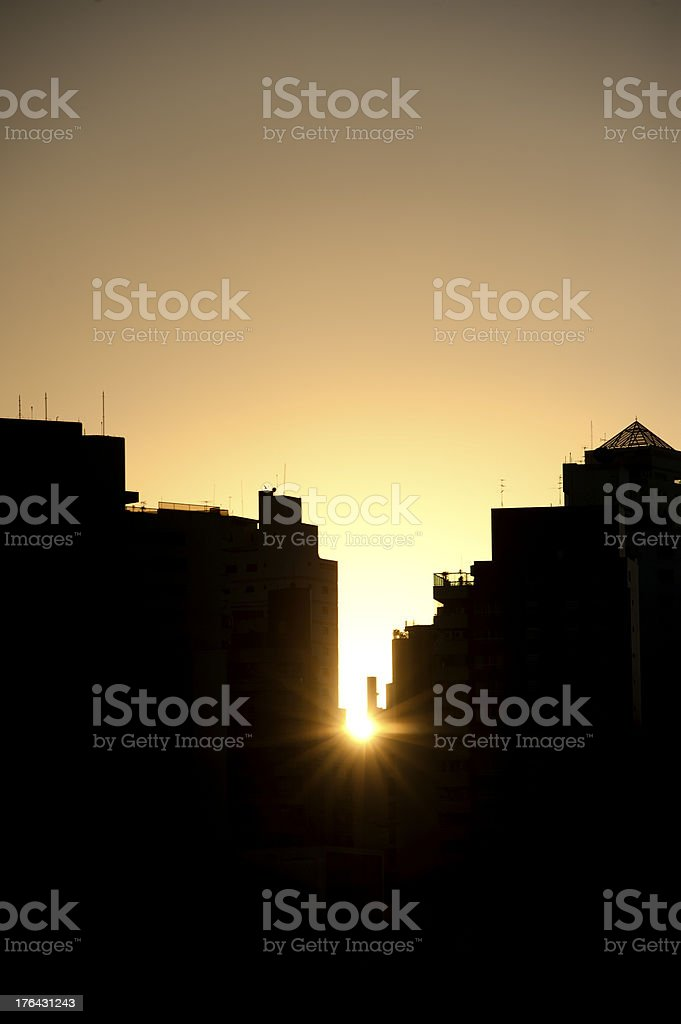 Sunset in S?o Paulo royalty-free stock photo