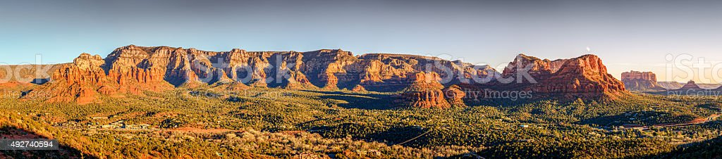 Sunset in Sedona stock photo