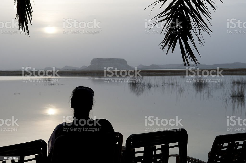 Sunset in Siwa stock photo