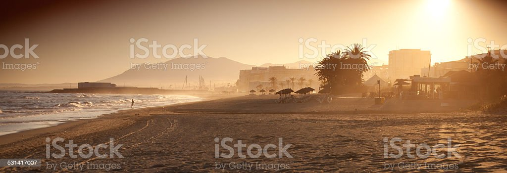 Sunset in Spain stock photo