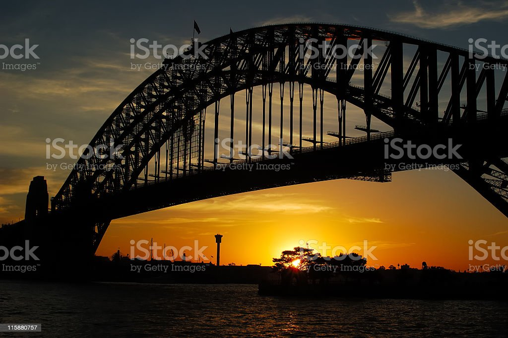 Sunset in Sydney royalty-free stock photo