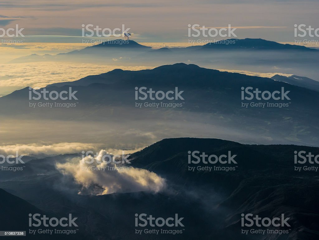 Sunset in the Airplane royalty-free stock photo