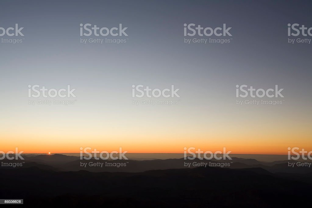 Sunset in the Andes stock photo
