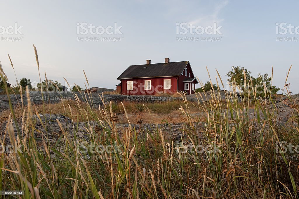 Sunset in the archipelago royalty-free stock photo