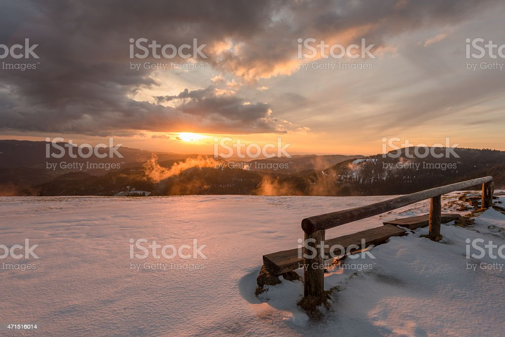 Nationalpark Sonnenuntergang im Schwarzwald photo libre de droits
