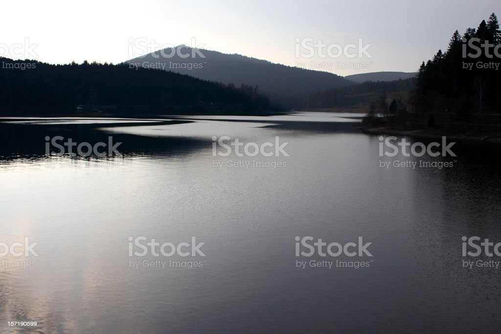 Sunset in the Black Forest royalty-free stock photo