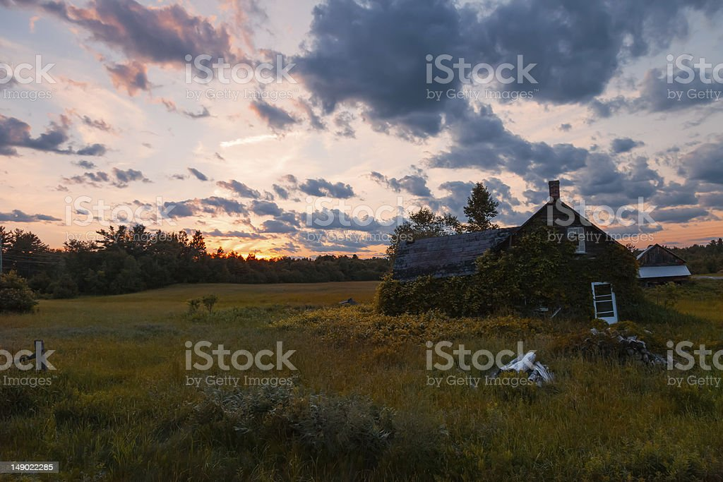 Sunset in the Country royalty-free stock photo