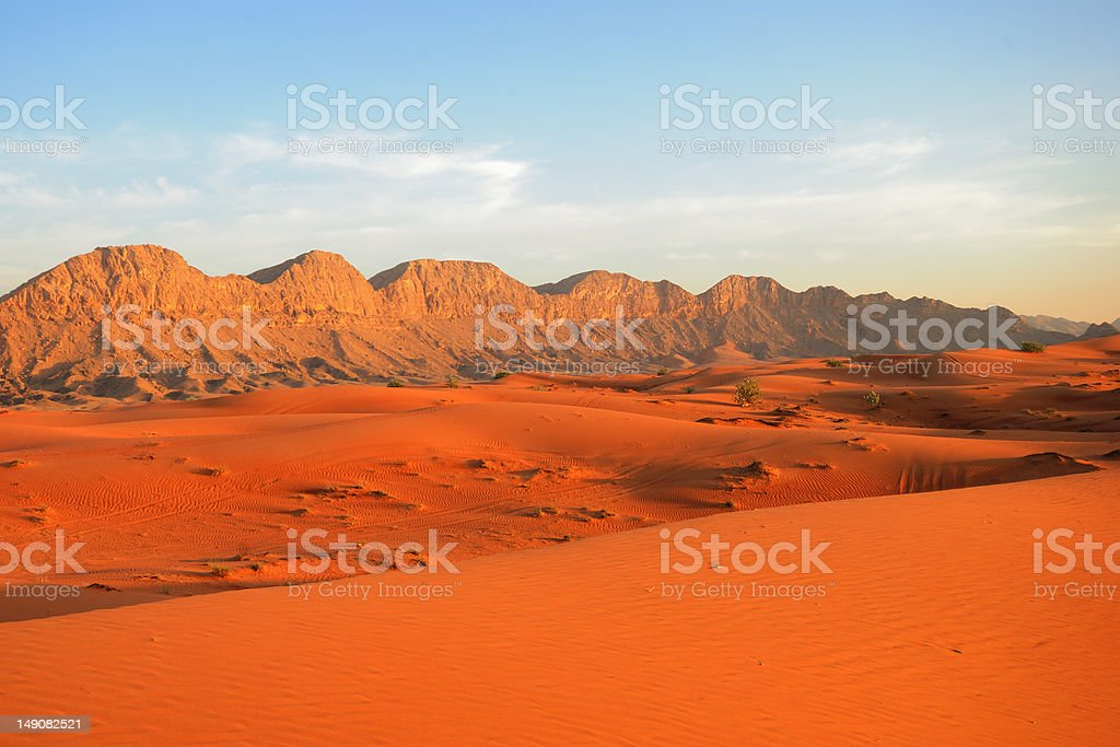 Sunset in the desert royalty-free stock photo