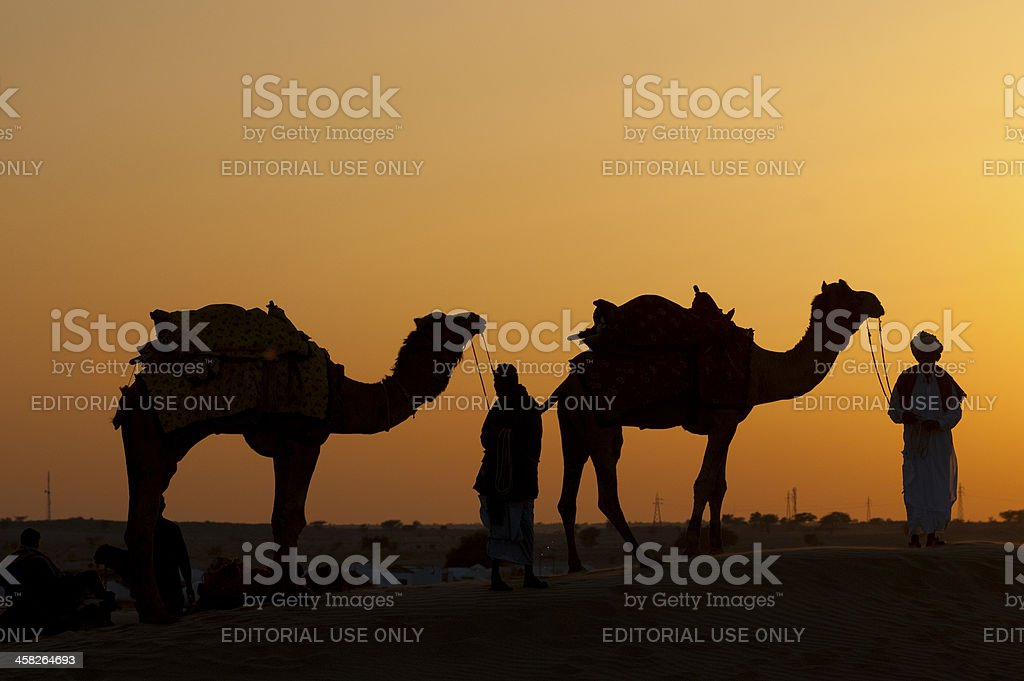 Sunset in the desert royalty-free stock photo