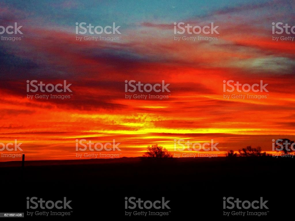Sunset in the Distance stock photo