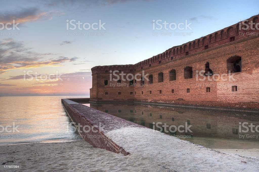 Sunset in the Dry Tortugas stock photo