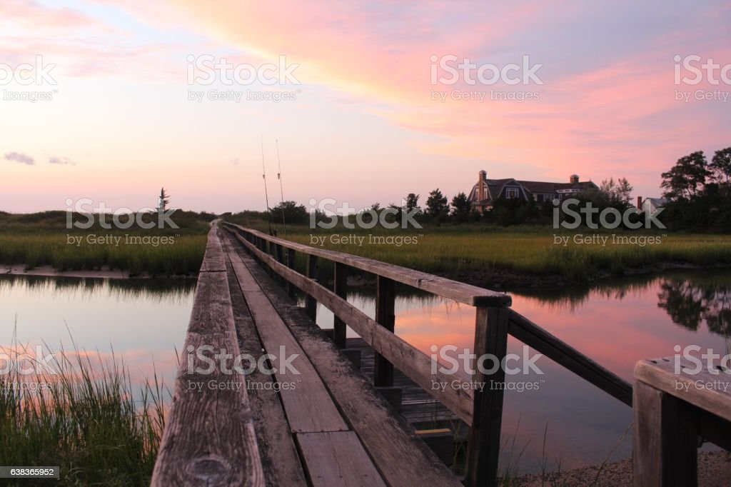 Sunset in The Hamptons stock photo