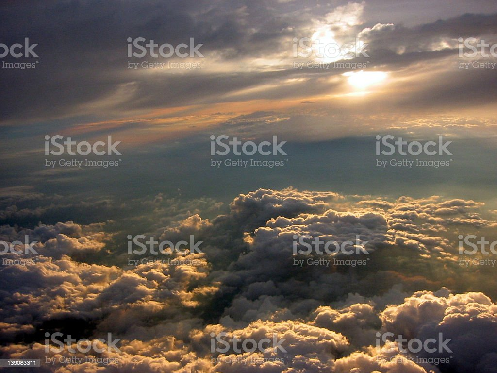 sunset in the heavens royalty-free stock photo