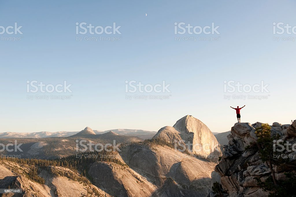Sunset in the High Sierra stock photo