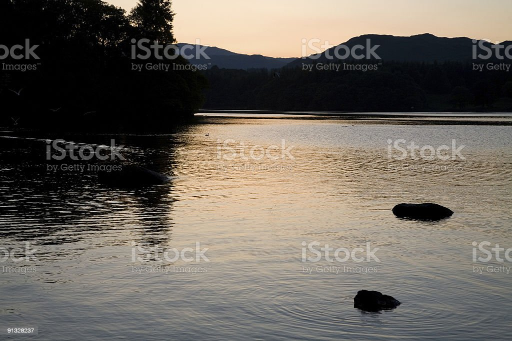 Sunset in the Lake District royalty-free stock photo