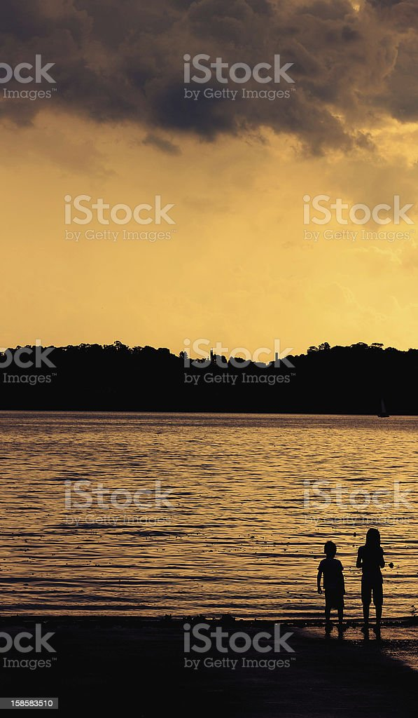 Sunset in the lake royalty-free stock photo