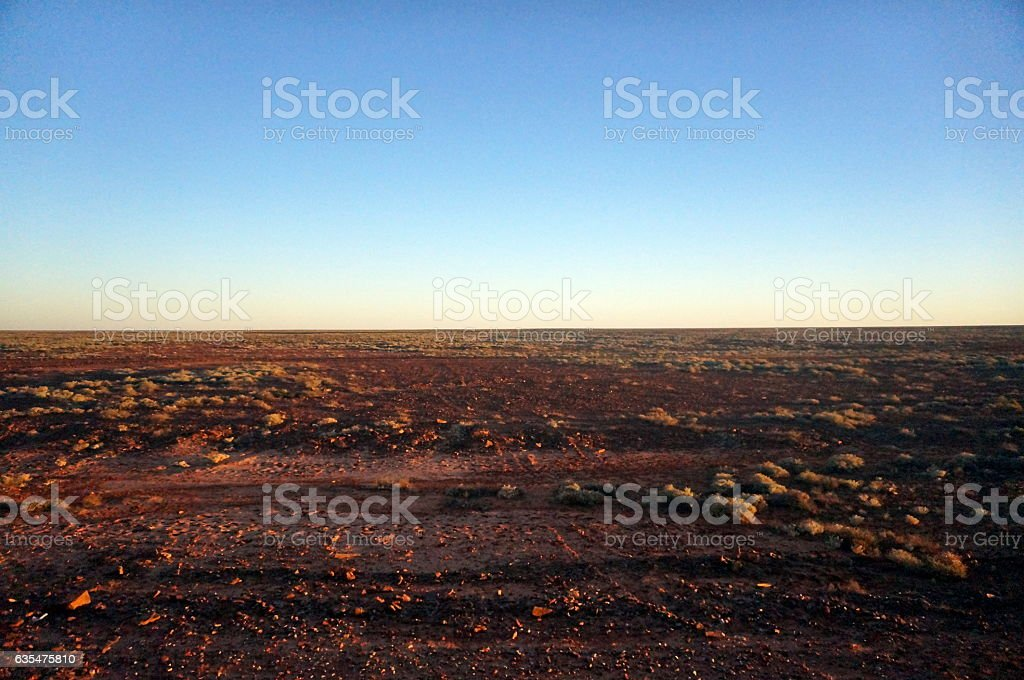 Sunset in the outback stock photo