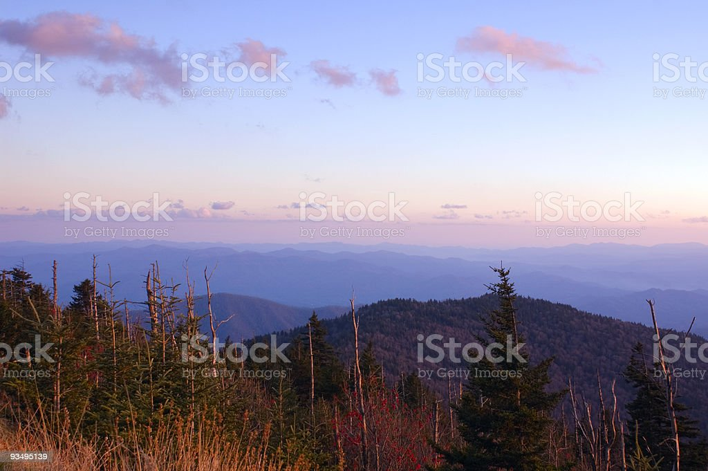 Sunset in the Smoky Mountains royalty-free stock photo