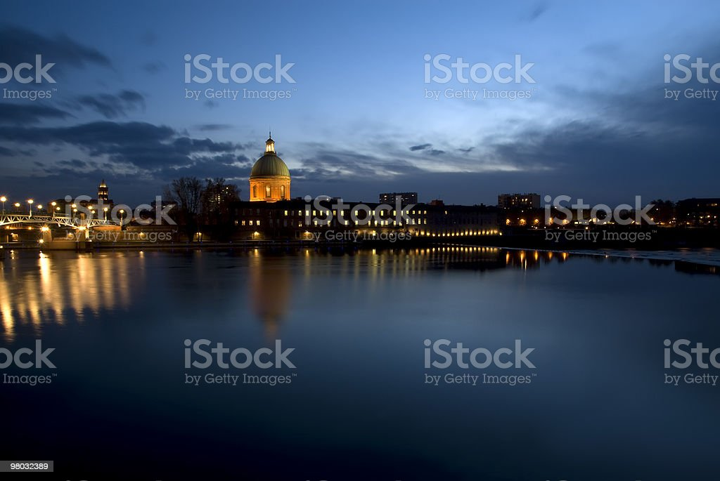 Sunset in Tolouse royalty-free stock photo
