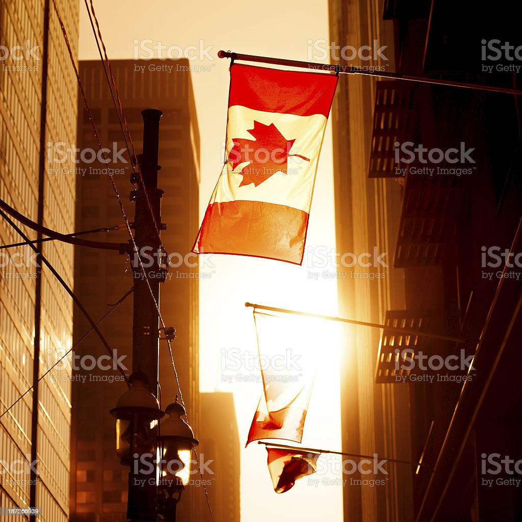 Sunset in Toronto stock photo