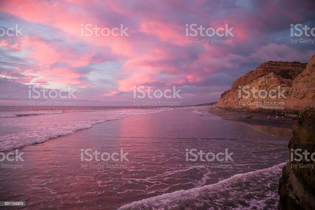 Sunset in Torrey Pines stock photo