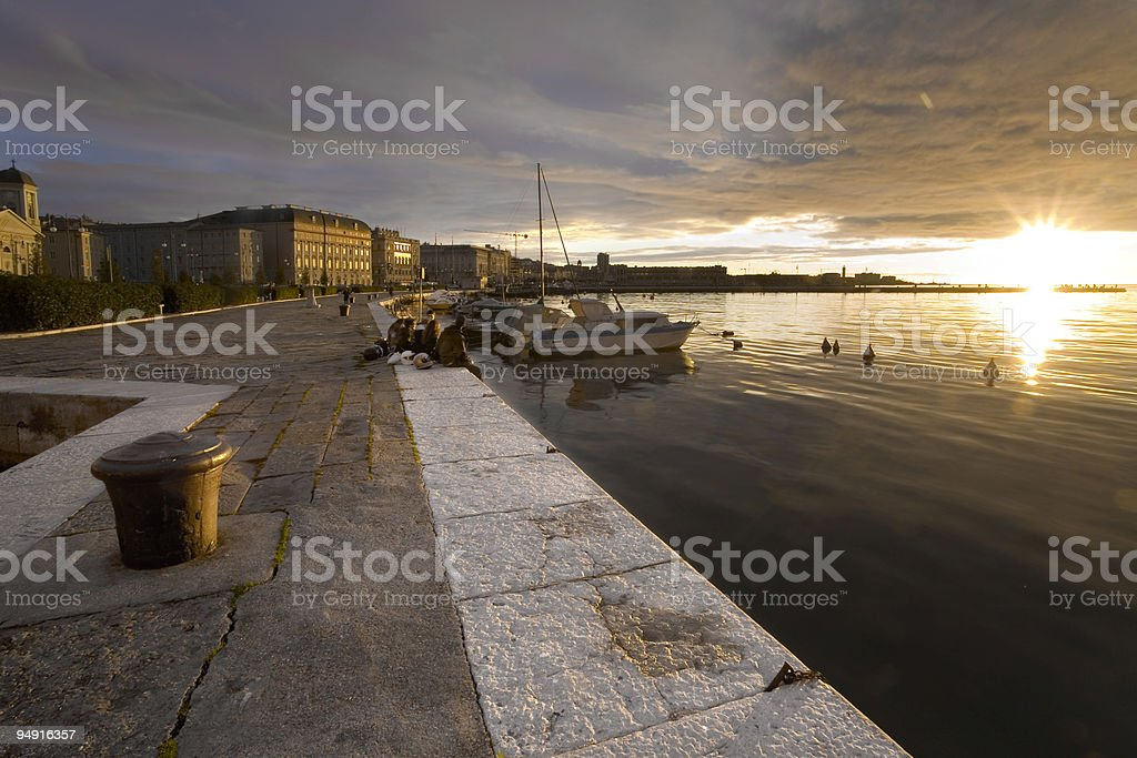 tramonto a trieste royalty-free stock photo
