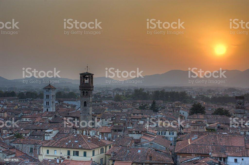 sunset in tuscany (hdr image) royalty-free stock photo