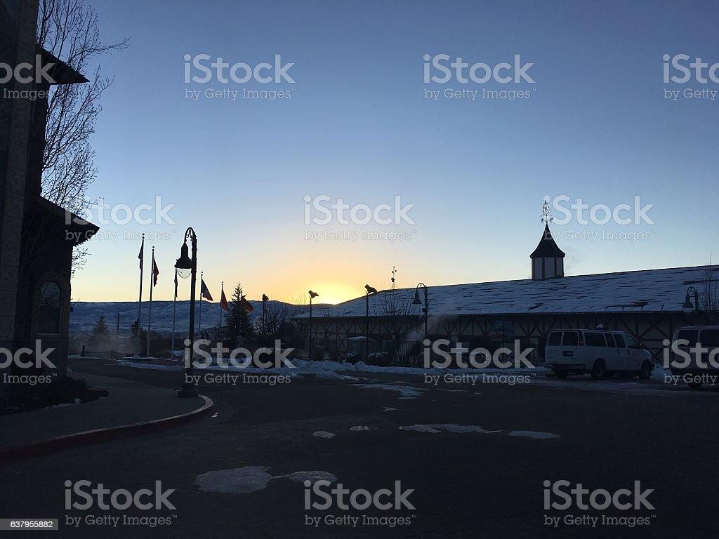 sunset in utah stock photo
