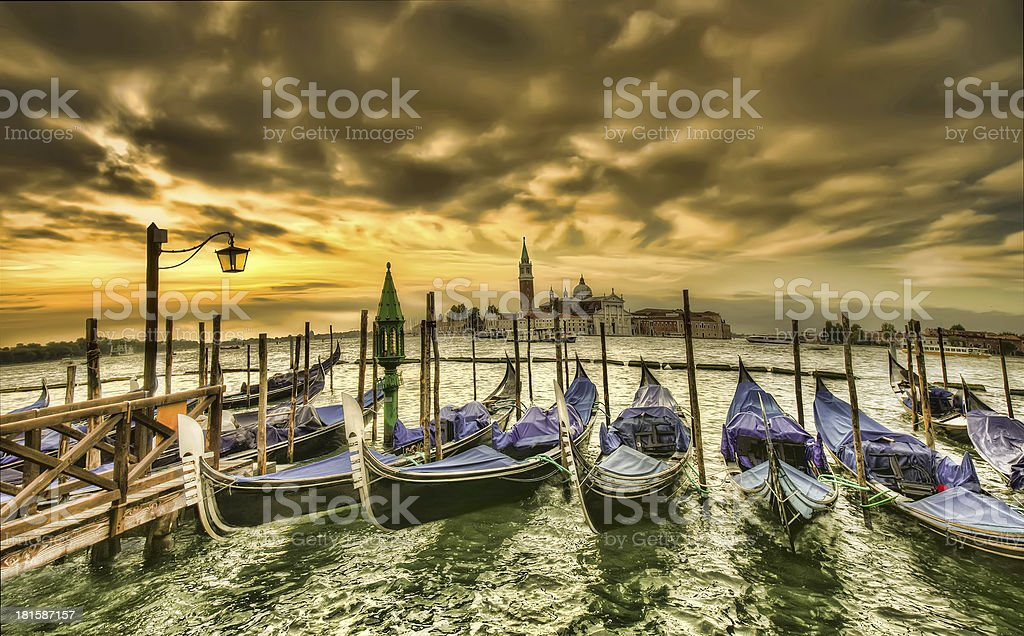 sunset in Venice royalty-free stock photo