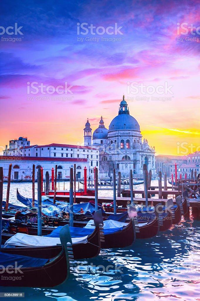 Sunset in Venice stock photo