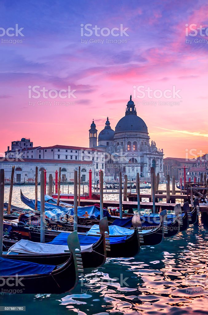 Sunset in Venice stock photo