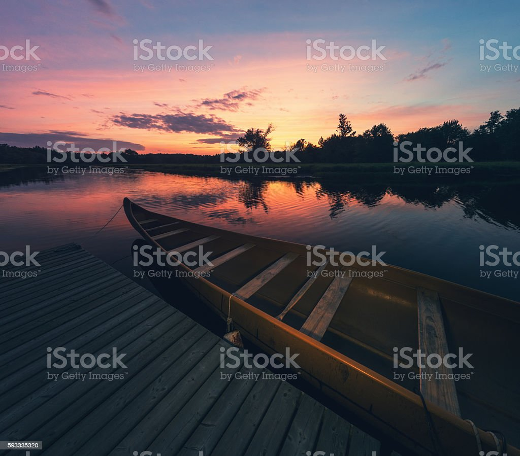 Sunset in Keji stock photo