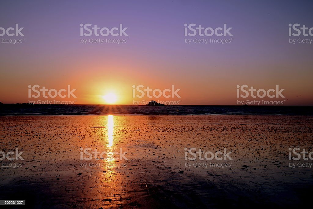 sunset intuition stock photo