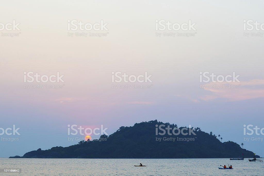 Sunset Island royalty-free stock photo