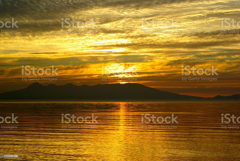 Sunset island royalty-free stock photo