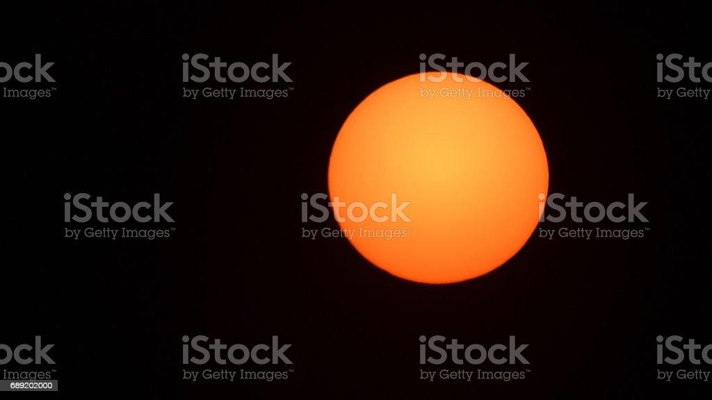 Sunset isolated black background stock photo