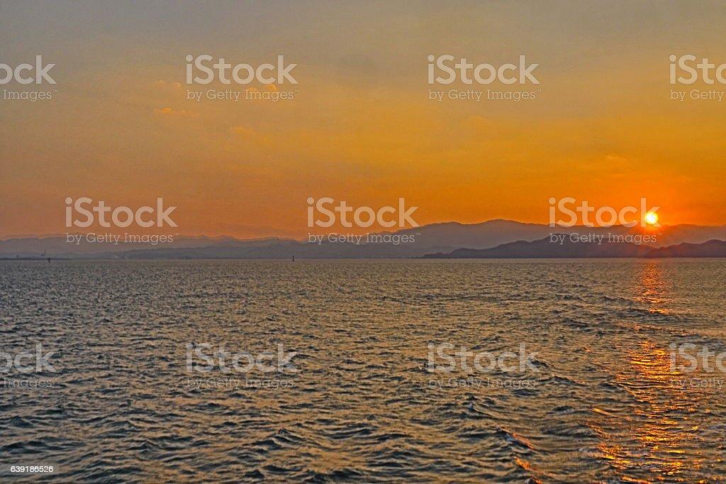 Sunset . Japan Wakayama stock photo
