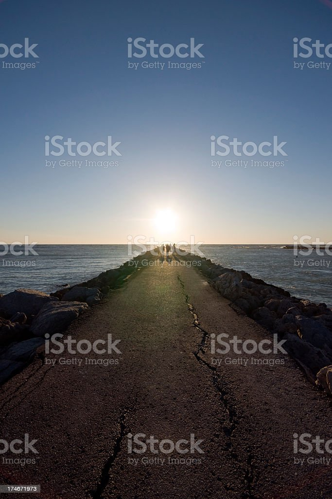 Sunset Jetty royalty-free stock photo