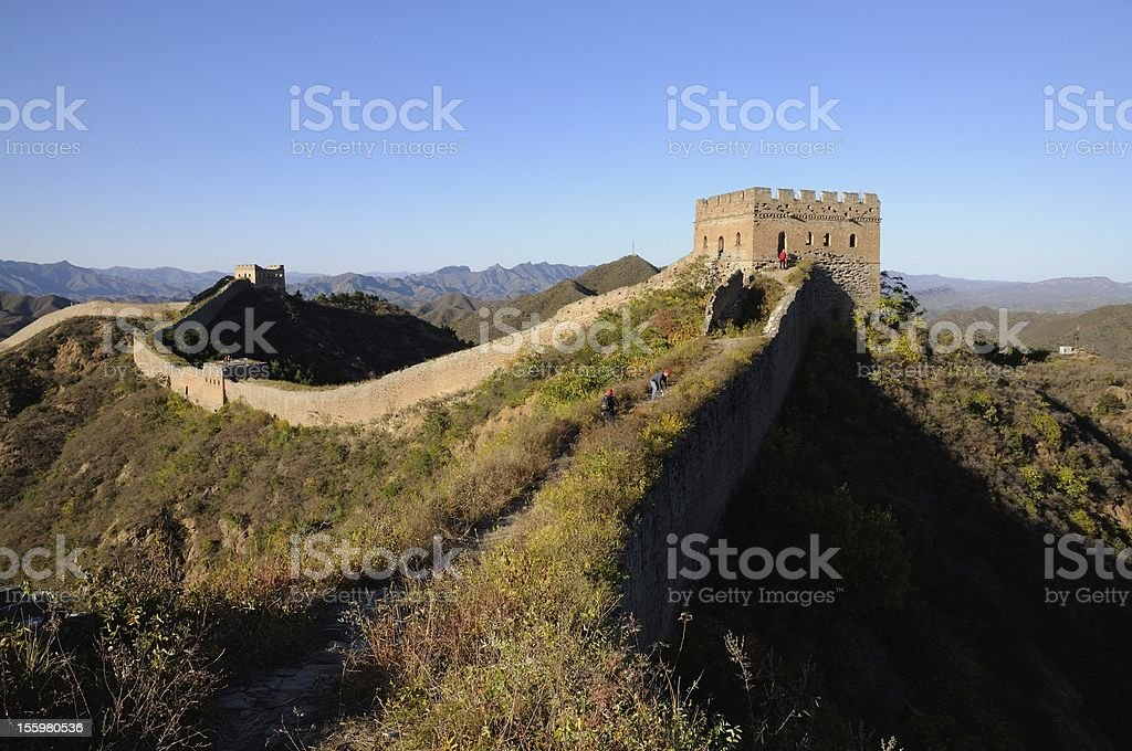 Sunset Jinshanling Great Wall royalty-free stock photo