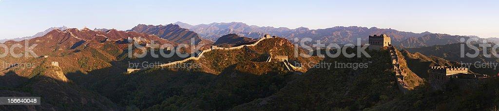 Sunset Jinshanling Great Wall royalty-free stock photo