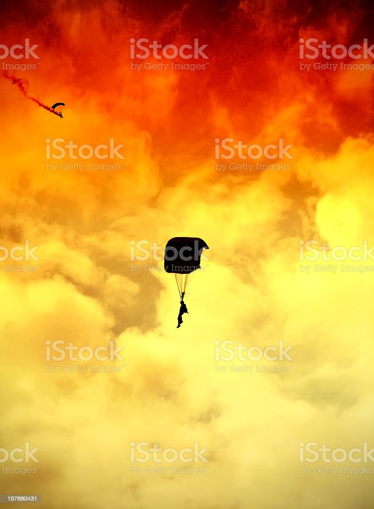 Sunset Jump stock photo